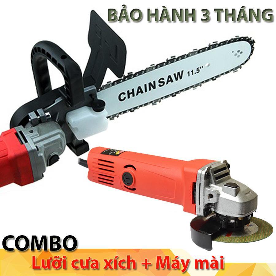 Combo đủ bộ  lưỡi cưa xích gắn máy mài cầm tay + Máy mài góc cầm tay zento S1M-100A