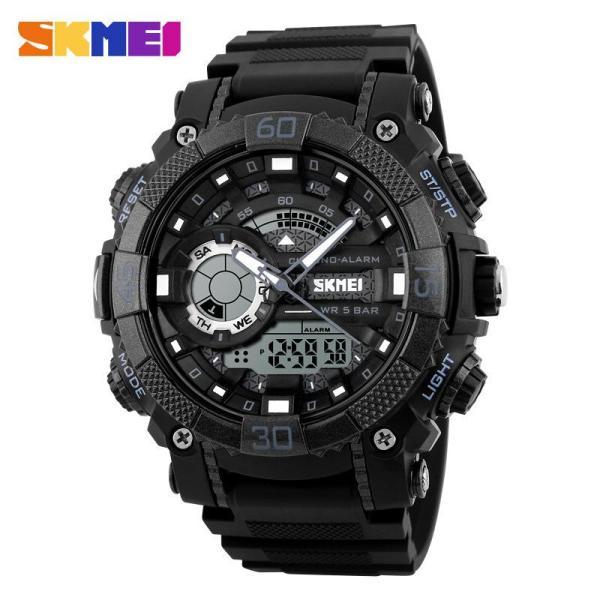 Đồng hồ thể thao nam Skmei 1228 Stopwatch chống nước 50m dây cao su cao cấp (M Chọn màu) bán chạy