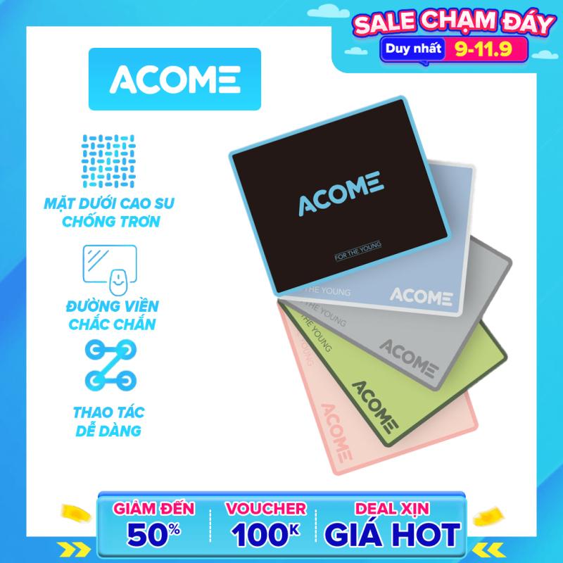 [Bảo Hành 12 Tháng]ACOME AMP01 Miếng Lót Chuột Kích Thước 22 x 18 cm Chất Liệu  Vải + Cao Su - Hàng Chính Hãng