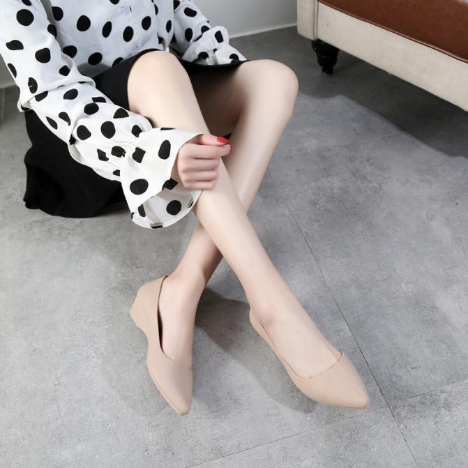 Giày búp bê nhựa nữ đi mưa, giày công sở có khả năng chịu nước chống trơn trượt V158 giá rẻ