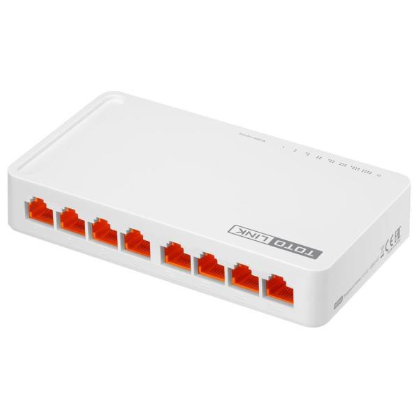 Giá Switch ToToLink S808 / 8-Port 10/100Mbps - HÃNG PHÂN PHÔI CHÍNH THỨC
