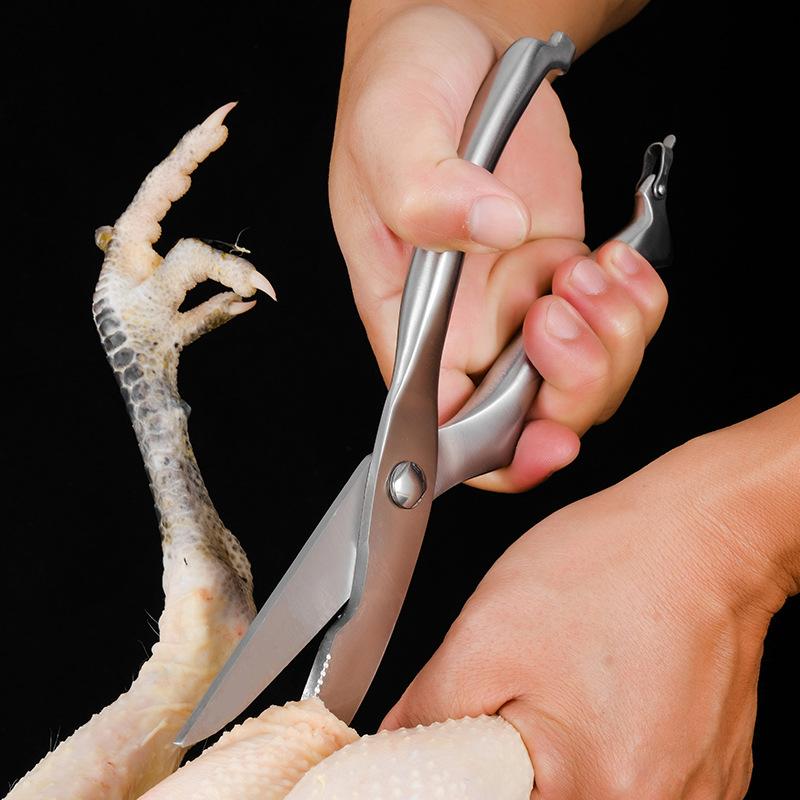 Kéo cắt Gà, Kéo cắt nhà bếp chuyên dụng Kapusi inox- Kéo cắt gà và thịt đa năng inox siêu sắc-kéo cắt gà cán vàng giá rẻ siêu sắc-Kéo cắt thịt , thịt gà, thịt vịt siêu sắc