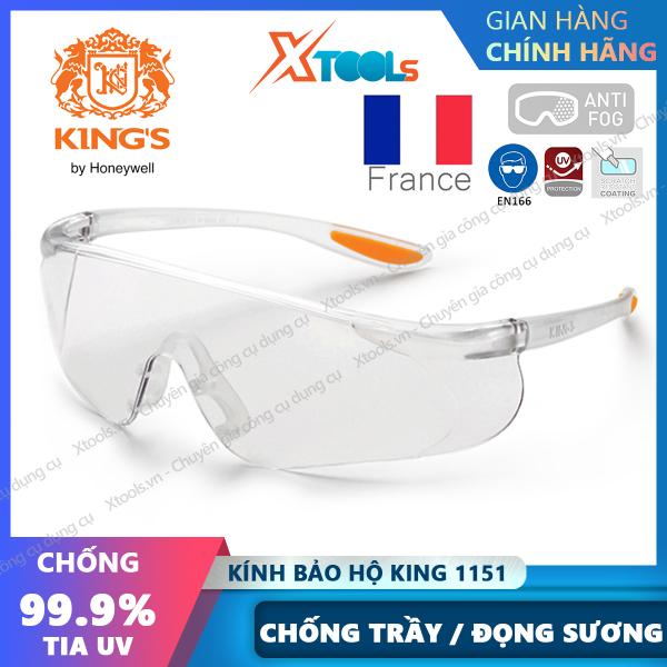 Giá bán Kính bảo hộ Kings KY1151 Kính chống tia UV, chống bụi, chống trầy xước, đọng sương, dùng trong lao động, đi xe máy [XTOOLs][XSAFE]