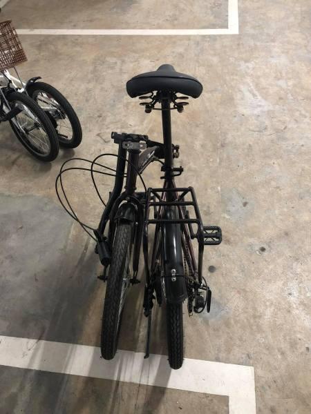 Mua Xe đạp Nhật bãi gập gọn - bé m2 đi tốt người lớn nâng yên m65 vẫn ok