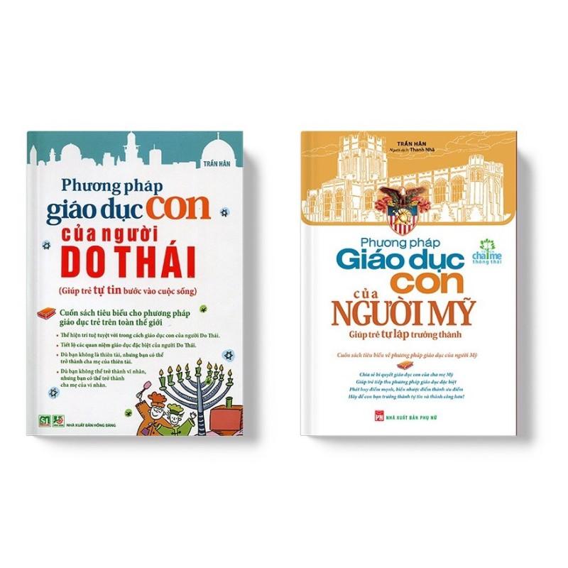 Sách - Combo Phương Pháp Giáo Dục Con Của Người Mỹ Và Người Do Thái - Mhbooks tặng bookmark