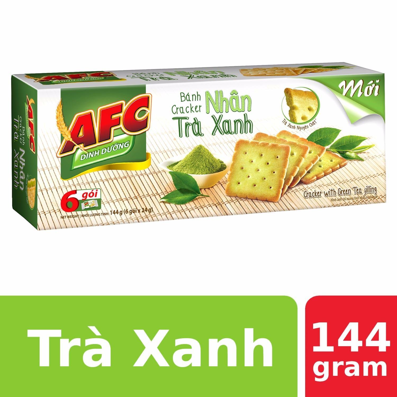 Bánh quy AFC Dinh dưỡng nhân trà xanh 144g