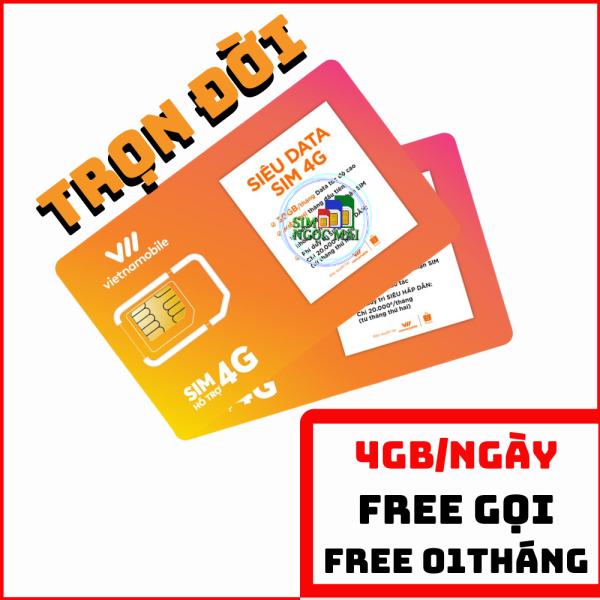 Siêu Thánh Sim 4G Vietnamobile Gói Cước Trọn Đời - 180GB DATA - 6GB/NGÀY - SIM NGỌC MAI