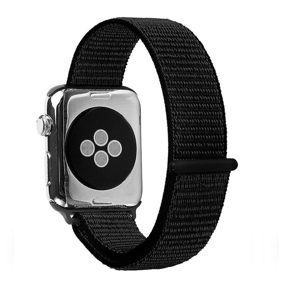Giá Dây Apple Watch Nylon Sport Loop 42mm / 44mm - Dây đeo Apple Watch hít nam châm Nilon siêu đẹp mầu đen (Black)