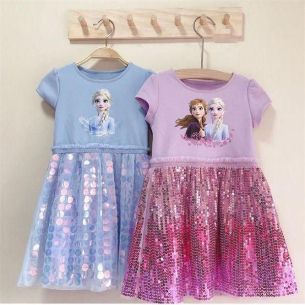 Giá bán Váy Elsa đính kim sa lấp lánh cho bé gái