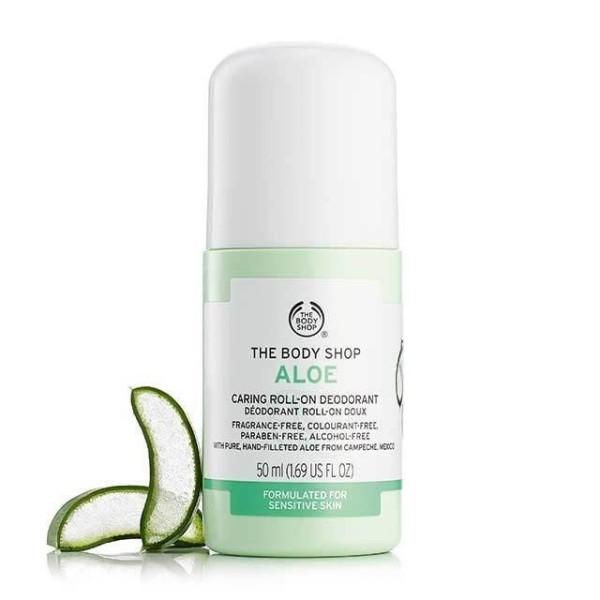 Lăn khử mùi The Body Shop Aloe Anti-Perspirant Deodorant 50ml