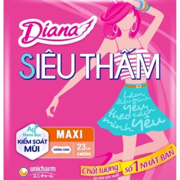 [DÀY KO CÁNH] Băng vệ sinh Diana Maxi siêu thấm dày không cánh( gói 8 miếng) giá rẻ