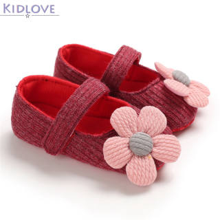 Đế Mềm Hoa Dễ Thương Kidlove Giày Công Chúa Chống Trượt Cho Trẻ Em Bé Gái Mới Biết Đi Bé