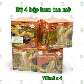 Bộ 4 hộp kem tan mỡ bụng gừng ớt Flourish Thái Lan (700ml x 4) giúp đánh tan mỡ hiệu quả, làm săn chắc vùng bụng, hông, eo, mông và đùi, cho dáng vóc luôn gọn gàng hơn thumbnail