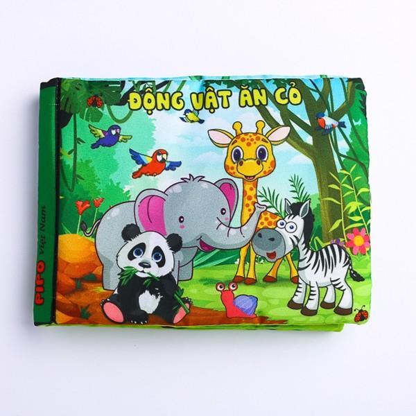 Mua Sách vải Pipo kích thích trí não cho bé : Động vật ăn cỏ