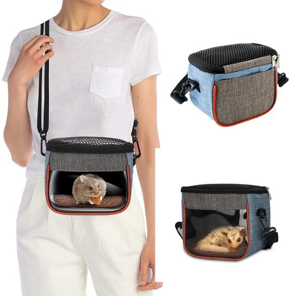 Túi Đựng Thú Cưng Ngoài Trời Hình Chú Sóc Vàng Gấu Xanh Lá Cải Xanh Thoáng Khí Đi Ra Ngoài Túi Du Lịch, Carry Pouch Túi, Thú Cưng Nhỏ