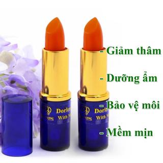 Combo 2 cây son sâm giảm thâm môi Dorlene Thái Lan giúp dưỡng ẩm môi, bảo vệ môi khỏi các tác nhân gây hại, cho môi luôn hồng hào và mềm mịn thumbnail