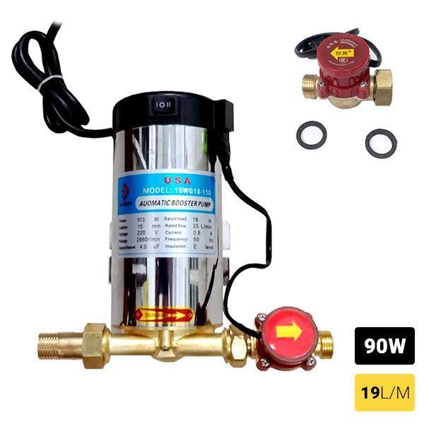Máy bơm tăng áp cho máy giặt, nóng lạnh, vòi sen 220V TA9795 Pro - Công suất 90W có rơ le tự động ngắt