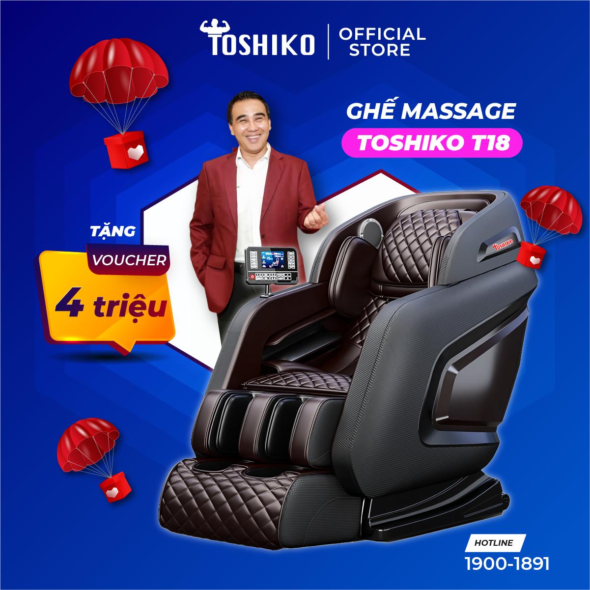 Ghế massage trị liệu toàn thân Toshiko T18 hàng chính hãng, bảo hàng 6 năm