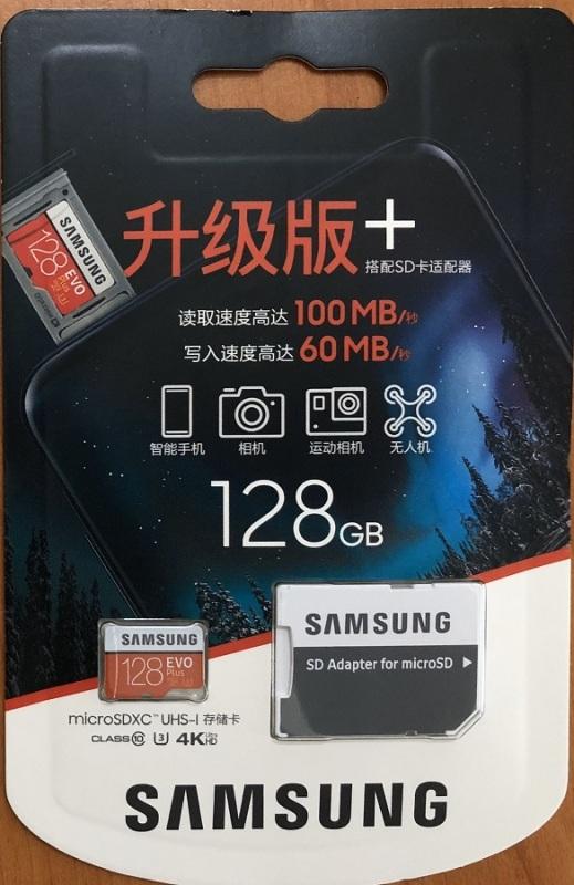 Thẻ nhớ MicroSDXC Samsung EVO Plus 4K 128GB 100MB/s (Box Hoa New 2020)