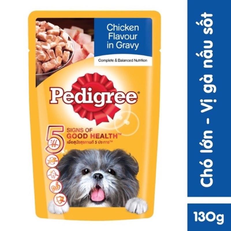 Bộ 12 Gói Thức ăn chó Pedigree vị gà nấu sốt 130g