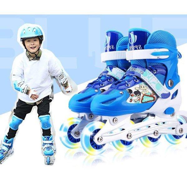Mua Big Sale - Giầy trượt patin cao cấp tặng kèm bộ bảo vệ chân tay và mũ bảo hiểm