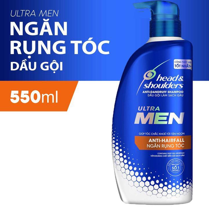 Dầu Gội Cho Nam Head Shoulders UltraMen Ngăn rụng tóc 550ml nhập khẩu