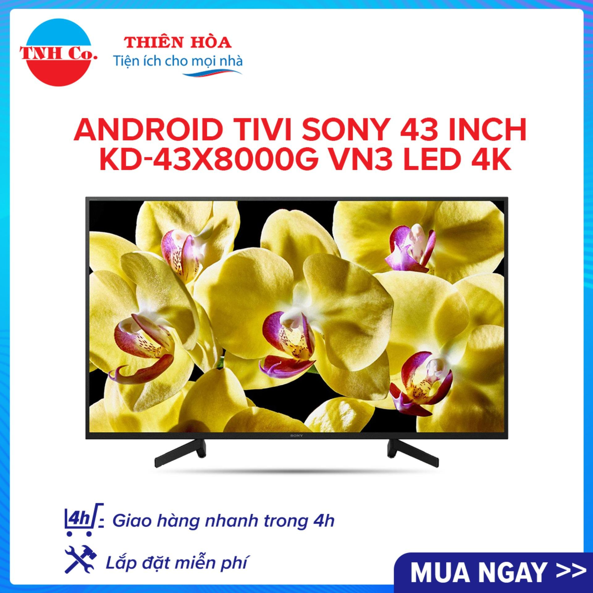 Bảng giá Android Tivi SONY 43 Inch KD-43X8000G VN3 LED 4K