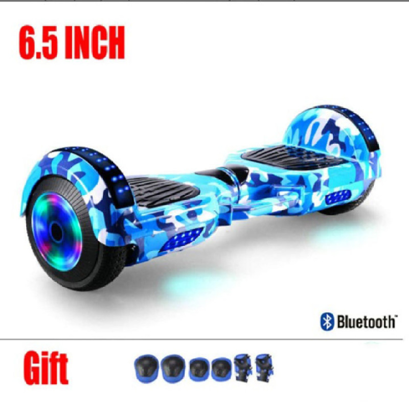 Phân phối xe điện cân bằng - xe điện cân bằng bánh 6.5 inch có đèn LED phát sáng kết nối bluetooth nghe nhạc