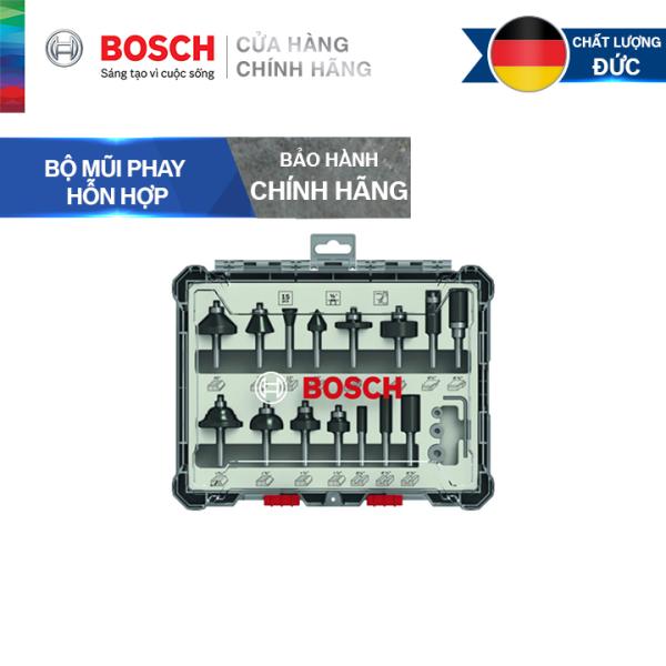 Bộ mũi phay hỗn hợp Bosch 15 món