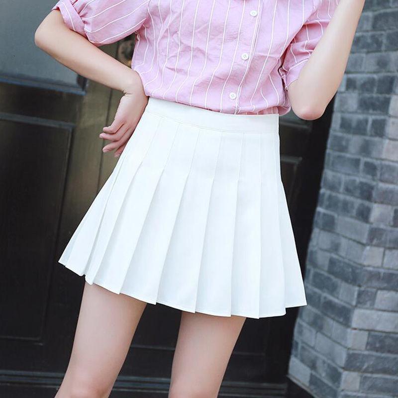 Mới Harajuku Tartan Hồng Nữ Gợi Cảm Kẻ Sọc Xếp Ly Chân Váy Mini Dance Váy Nút Bên Hông Cao Cấp Trường Váy Nữ Bán giỏi nhấthjghgj