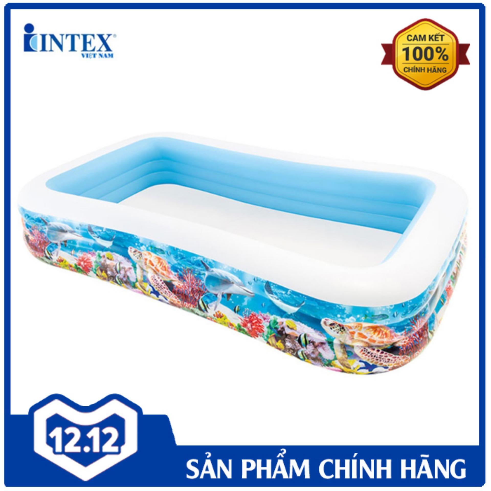 Bể Bơi Phao đại Dương INTEX 58485 - Hồ Bơi Cho Bé Mini, Bể Bơi Phao Trẻ Em Giá Tốt Không Thể Bỏ Qua