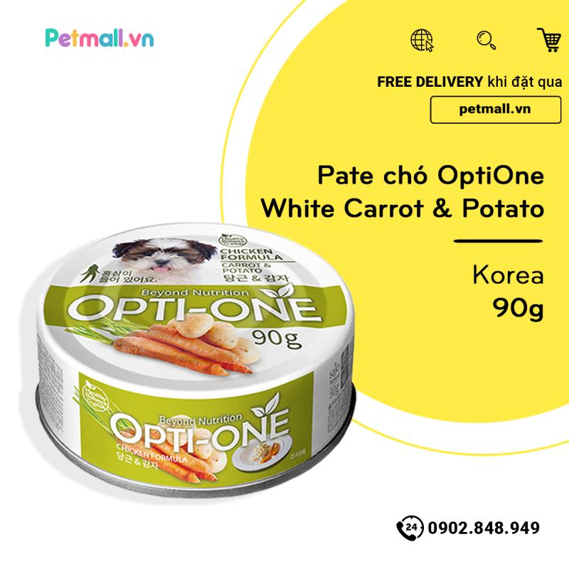 Pate chó OptiOne White Carrot & Potato 90g - Korea