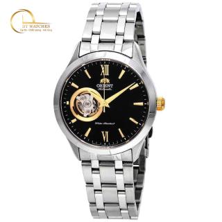 Đồng hồ Nam Orient cơ tự động mặt đen hở tim, dây kim loại, kính shapphire FAG03002B0 thumbnail