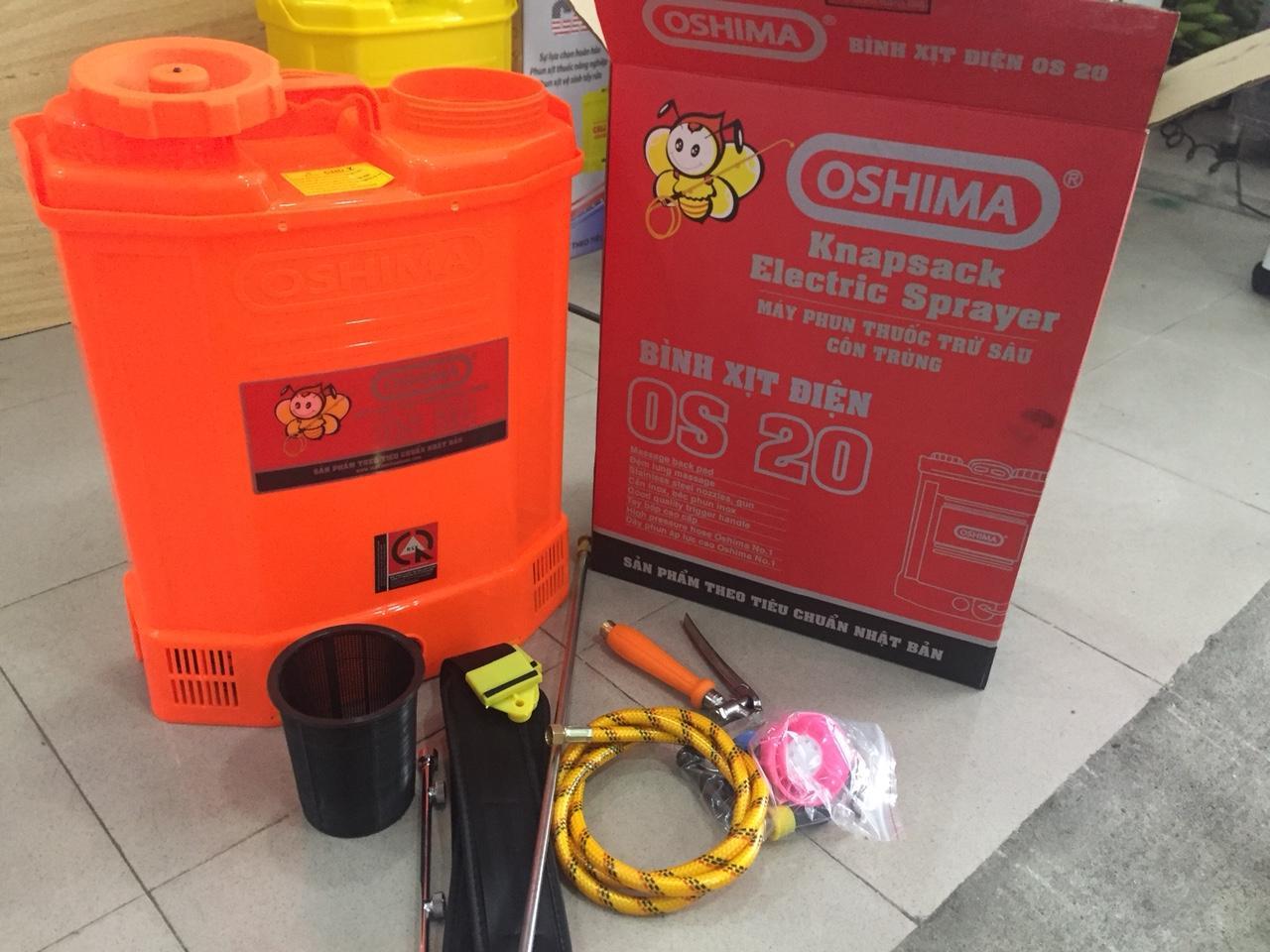 Bình xịt điện Oshima OS20( vàng , cam)
