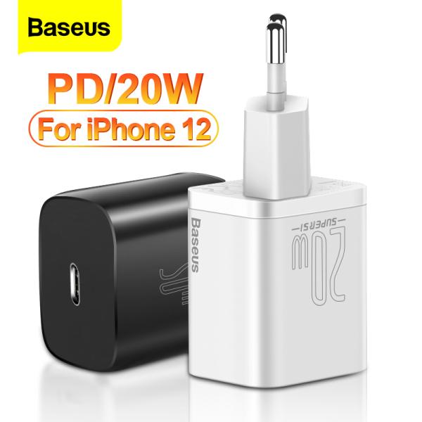 Bộ sạc nhanh Baseus PD 20W Bộ sạc USB C Super Si cho iPhone 13 12 Pro Sạc nhanh tối đa cho Apple Watch Samsung Xiaomi