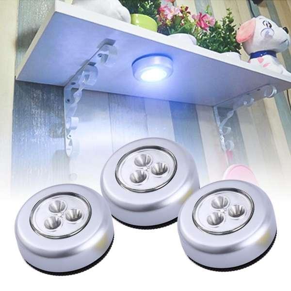 [HCM]Combo 3 đèn led 3 bóng dán tường tiết kiệm năng lượng
