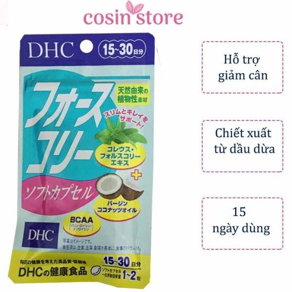 Viên uống giảm cân DHC Forskohlii Soft Capsule gói 30 viên 15 ngày dùng - Hỗ trợ kiểm soát cân nặng