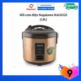 Nồi Cơm Điện Nắp Gài 1.8 lít Nagakawa NAG0122 - Hàng Chính Hãng - Bảo hành 12 tháng thumbnail