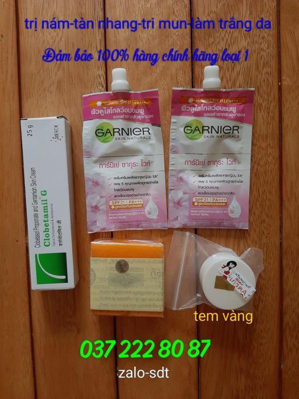 TEM VÀNG Bộ Trị Nám 5 món Clobetamil G, hàng Thái Lan nhập khẩu cao cấp