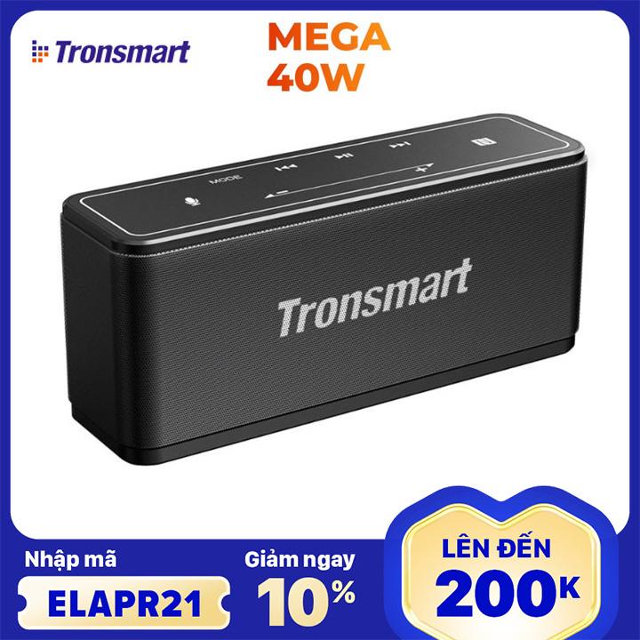 [Nhập ELAPR21 giảm 10% tối đa 200k đơn từ 99k]Loa Tronsmart Element Mega Bluetooth 5.0 Loa di động 40W Colums Touch Control Soundbar hỗ trợ Trợ lý giọng nói NFC TWS MicroSD