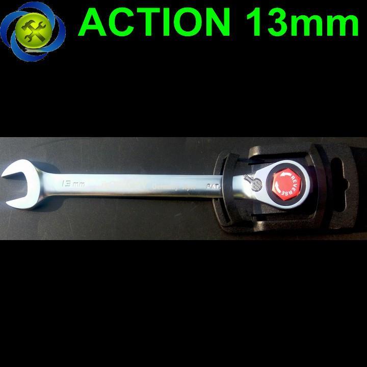 Cờ lê vòng miệng tự động Action 13mm có khóa