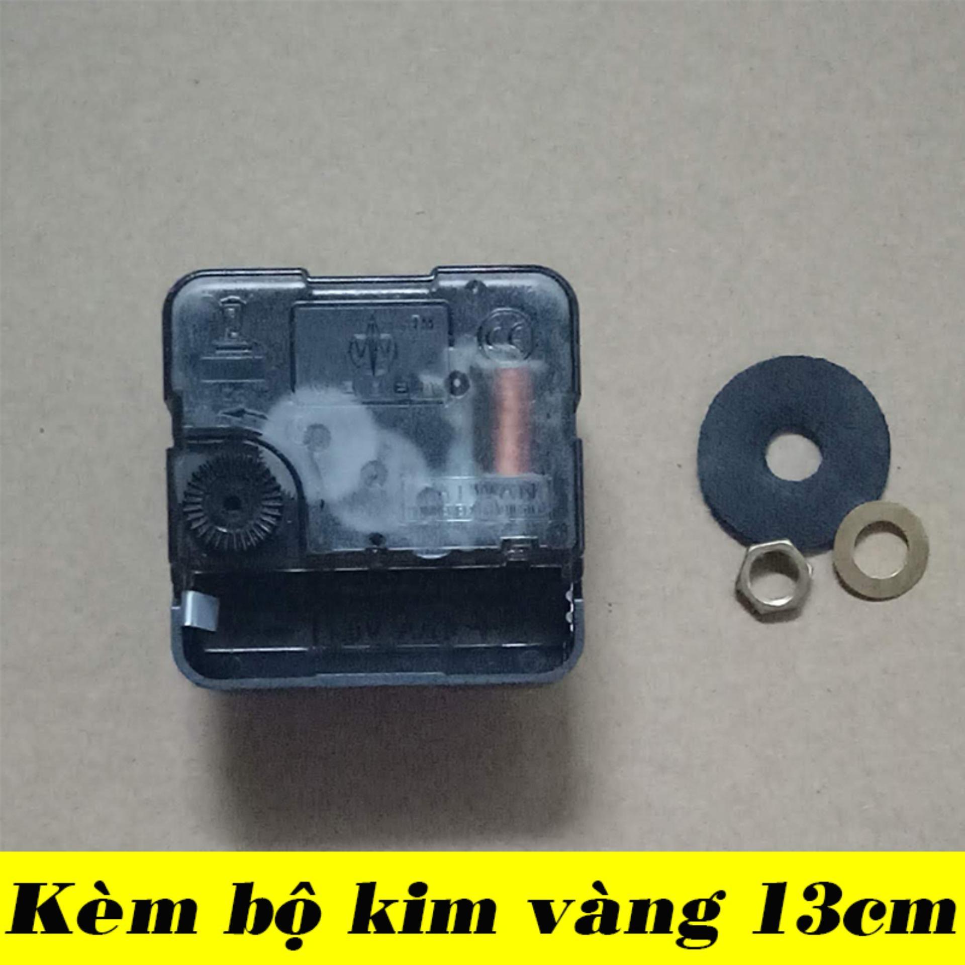 Nơi bán Bộ kim vàng 13cm và Máy đồng hồ treo tường Taiwan kim giật M3288