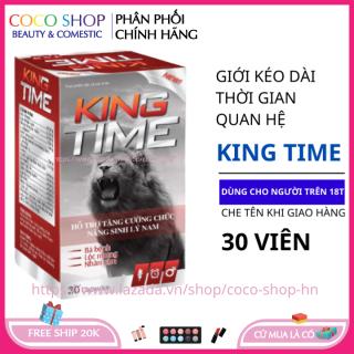Tăng cường sinh lý nam giới KING TIME 30 viên - giúp bổ thận tráng dương tăng cường sinh lực thumbnail