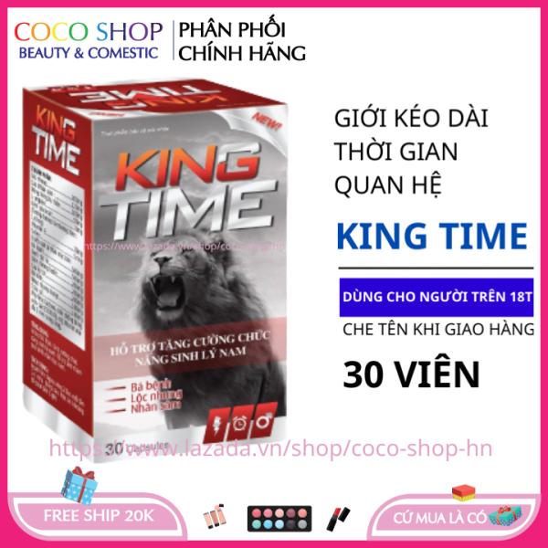 Tăng cường sinh lý nam giới KING TIME 30 viên - giúp bổ thận tráng dương tăng cường sinh lực