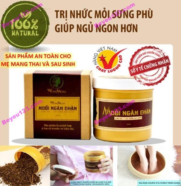 Muối ngâm chân trị đau nhức, phù chân 350g - An toàn cho Mẹ mang thai và sau sinh - Wonmom (Việt Nam) tốt nhất