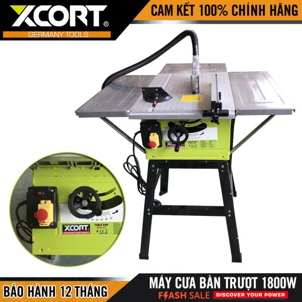 [ MẪU MỚI ] Máy cưa bàn - máy cưa bàn trượt 1800W XCORT- Máy cực khỏe