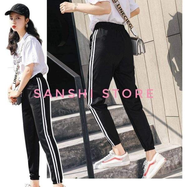 Nơi bán Sét đồ bộ ♥ ♥ Quần Set Jogger Line Phối áo Thun Unisex Sweet - S23
