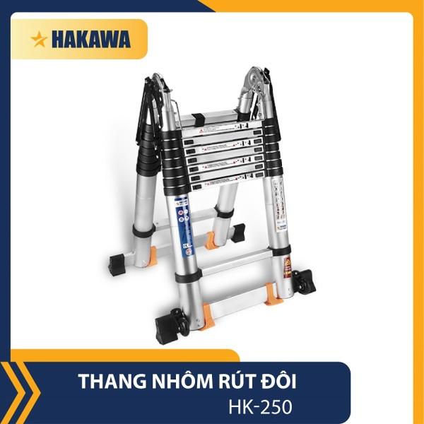 [HCM]Thang nhôm rút đôi Nhật Bản - HAKAWA HK-250 - 5m - đạt tiêu chuẩn châu Âu - Hãng Phân phối chính thức
