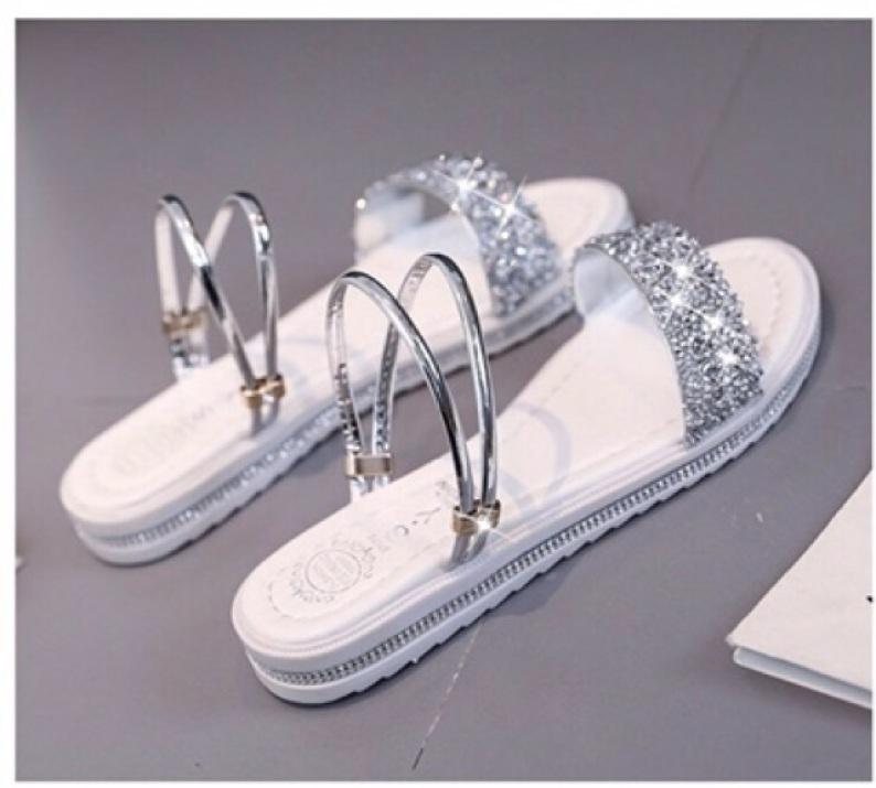Sandal nữ thời trang trẻ trung 2 kiểu đi quai ngang style Hàn Quốc giá rẻ