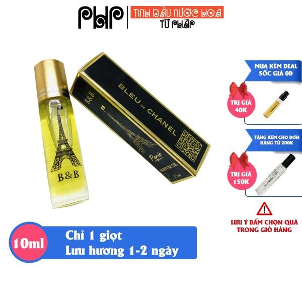 Tinh Dầu Nước Hoa Pháp B&B PHP 12ml lưu hương 14 tiếng, gồm 15 mùi nước hoa nam nữ unisex cao cấp, thơm lâu tỏa hương xa 2m ( không cồn) cao cấp